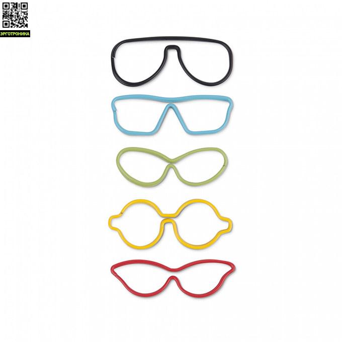 Набор из 10 скрепок SpecsКанцтовары<br>Большие разноцветные скрепки в виде оправы для очков помогут содержать в порядке ценные записки, да и просто поднимут настроение в офисе.<br>