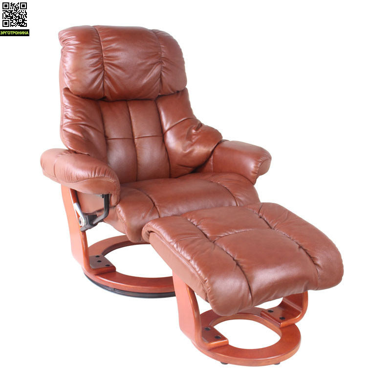 Кресло-реклайнер Relax LuxРабочие станции<br>В отличие от обычной мягкой мебели, которая традиционно используется для отдыха и редаксации, кресла-реклайнеры Релакс Люкс имеют ряд эргономических особенностей. Спинка кресла Relax Lux имеет анатомически правильную форму, как в профессиональных креслах для сидячей работы. Нижняя поясничная часть спинки кресла по форме и функциональности напоминает поясничный валик и выполняет функцию поддержки поясницы. Таким образом спинка находится в постоянном контакте со спиной, что исключает сутулость и позволяет пол<br>