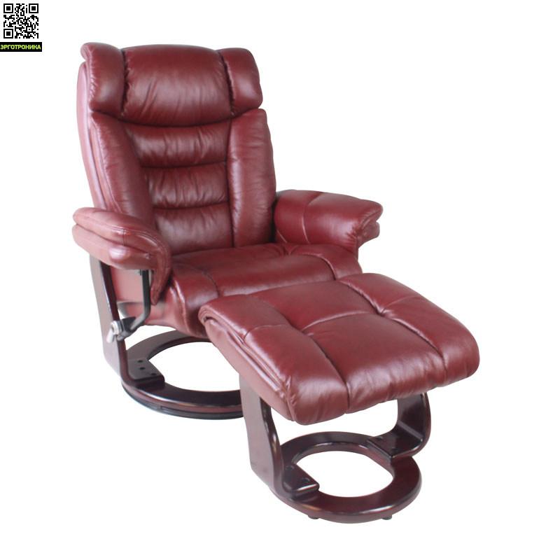 Кресло-реклайнер для дома и офиса Relax ZuelРабочие станции<br>Уникальная конструкция кресла Зуэль способствует максимальному снятию физического напряжения с человеческого тела. Для этого модель обладает необходимыми «выпуклостями», позволяющими сделать акцент на анатомически грамотной разгрузке различных частей организма человека.<br>При этом данную роль выполняют не только необыкновенно комфортная спинка и сиденье, но также подголовник и подлокотники. Кроме того, в состав модели входит удобный пуфик, который рекомендуется использовать как подставку под ноги. Применяя е<br>