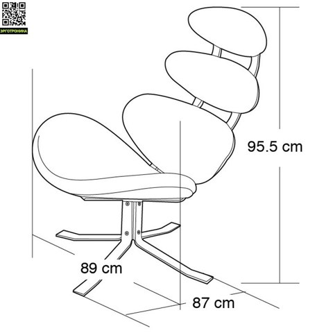 Кресло Poul Volther Style Corona Chair & Ottoman