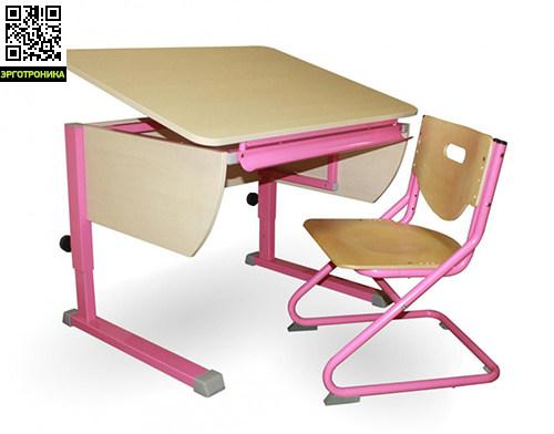 Парта Моно + стул SK-2Детские парты<br>Стол Моно имеет единую регулируемую столешницу. Это единственное отличие от стола Твин. Также может комплектоваться тумбами, фронтальной приставкой для монитора, надстройкой с тремя полками и стулом.4 цвета столешницы и 5 цветов каркаса на выбор. Высота: 53-78 см. Ширина 115 см. Глубина 58 см. Регулируемый угол наклона от 0 до 45 град.<br>