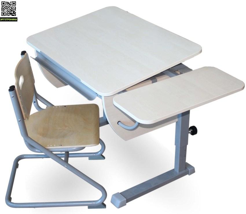 Парта Колибри + стул SK-2 + боковая приставкаДетские парты<br>Регулируется высота стола от 53 до 78 см. Размеры столешницы: 80х58 см.  Регулируемый угол наклона от 0 до 45 град.<br>
