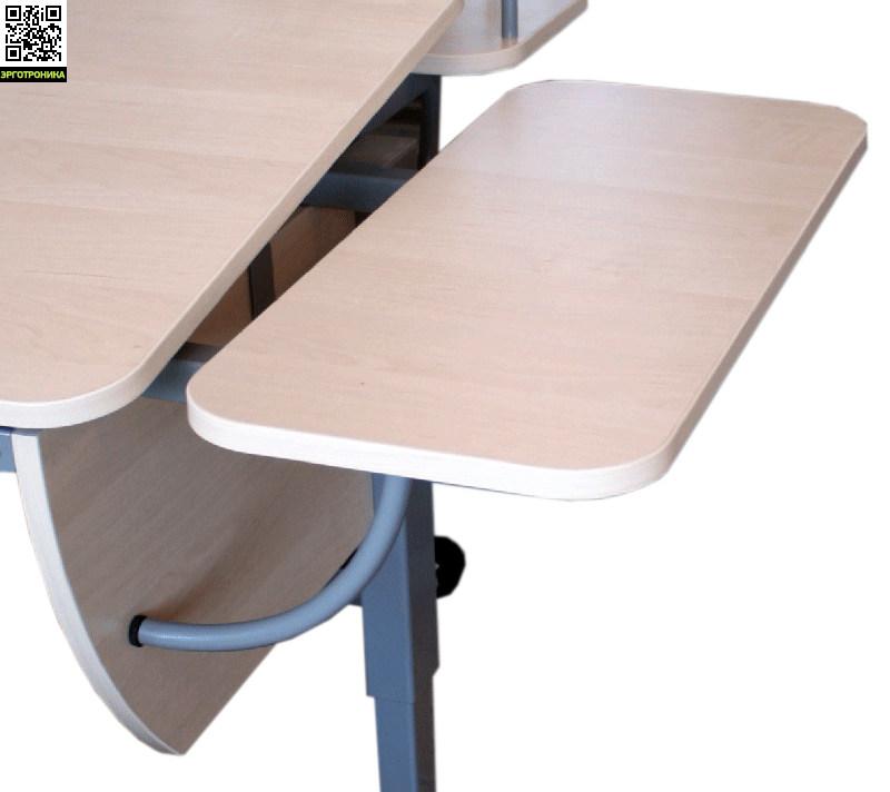 Приставка боковая к партам Астек универсальнаяДетская мебель: тумбы, стеллажи, приставки<br>Размер: длина 25 см. глубина 58 см.<br>Для всех парт Астек<br>