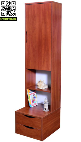 Стеллаж с дверцей АстекДетская мебель: тумбы, стеллажи, приставки<br>3 цвета на выбор<br>Размер: 48.6 х 55.6 х 198.2 см.<br>