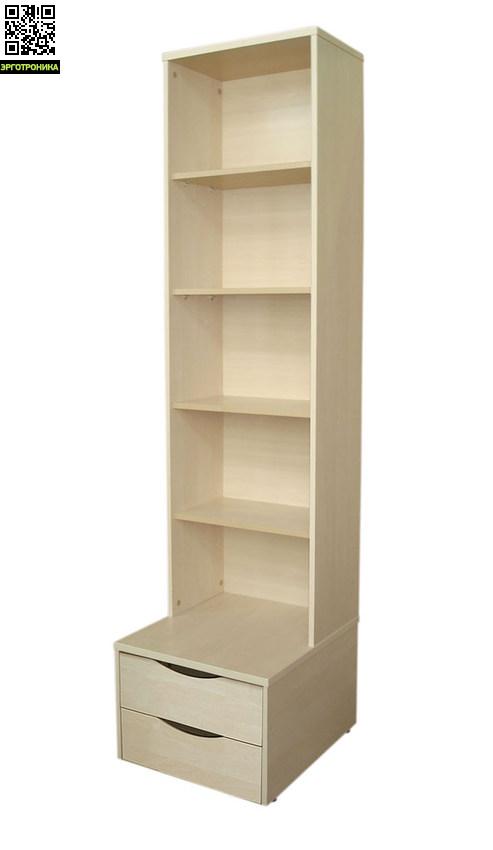 Стеллаж без дверцы Астек (открытый)Детская мебель: тумбы, стеллажи, приставки<br>3 цвета на выбор<br>Размер: 48.6 х 55.6 х 198.2 см.<br>