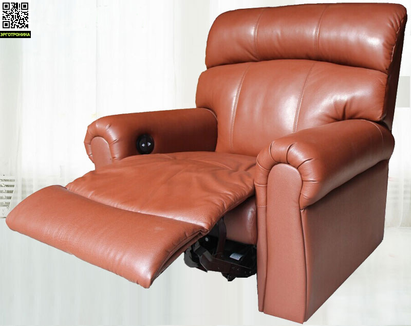 Электромеханический реклайнер Stress-Free 01Рабочие станции<br>При производстве кресла для отдыха Stress-Free 01 были использованы только натуральные материалы, а значит, оно полностью безопасно. Эргономичный дизайн создан специально для восстановления сил за небольшой промежуток времени.<br>