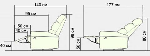 Электромеханическое кресло-реклайнер Stress-Free 16