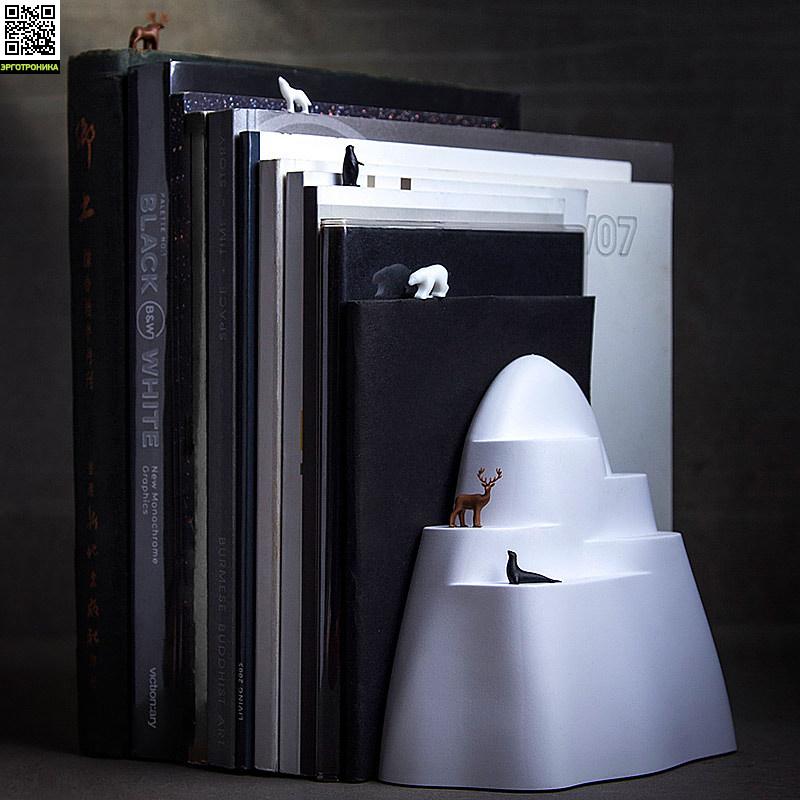 Держатель и закладки для книг IcebergПорядок на столе<br>Чтобы гора книг на полке не падала<br>
