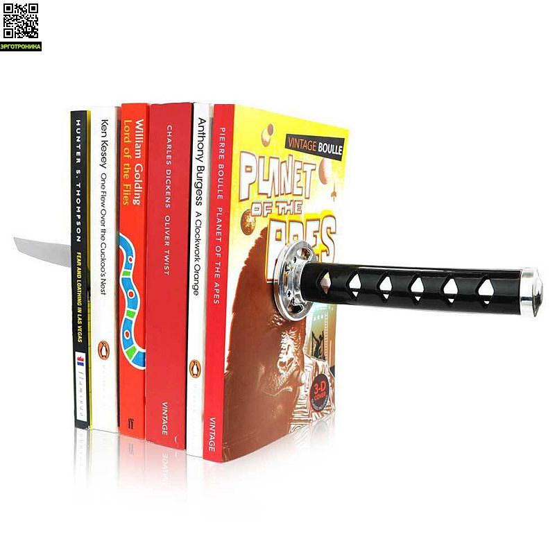 Держатели для книг KatanaПорядок на столе<br>Зафиксируйте Ваши книги с помощью меча от Ниндзя<br>