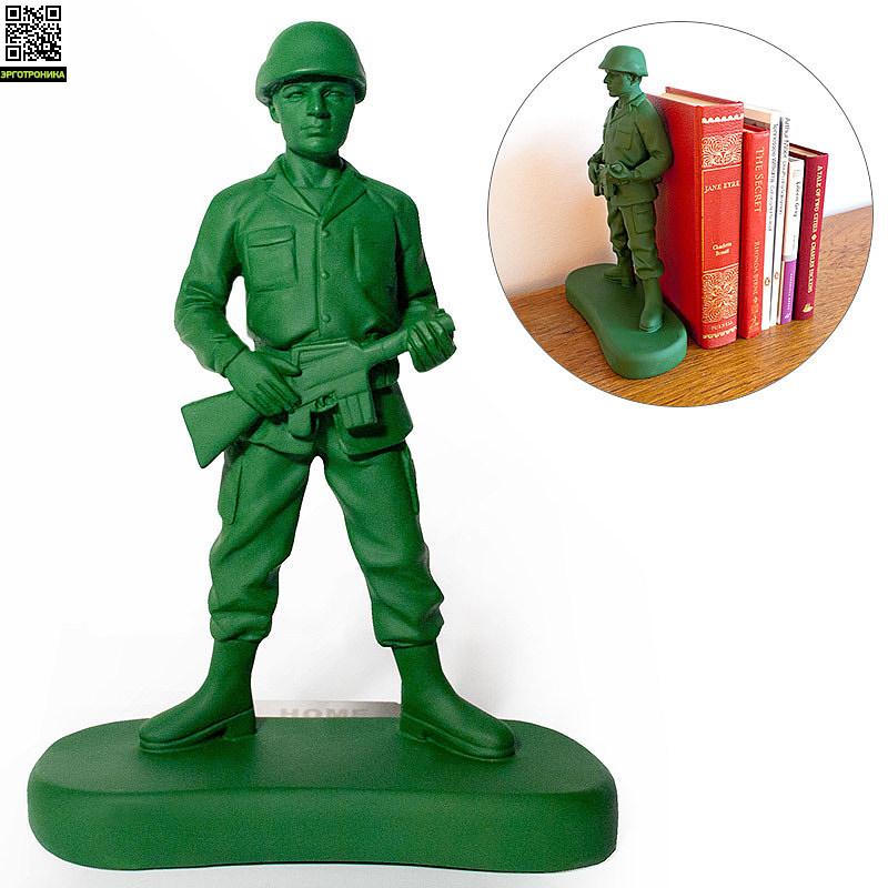 Ограничитель для книг Homeguard SoldierПорядок на столе<br>Надежный сторож книг<br>