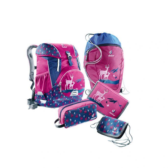 595b592ad0f Школьный рюкзак Deuter OneTwo (набор 3) (Пурпурный олень) купить за 9700  рублей. Отзывы, фото ...