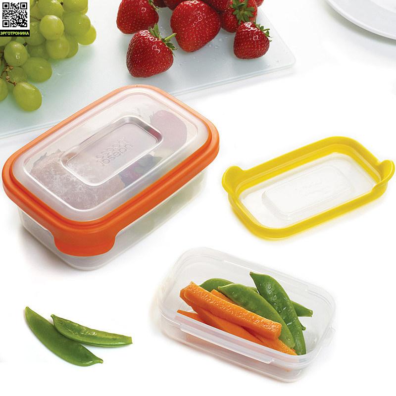 Контейнеры для хранения Nest™2Кухонная эргономика<br>Набор из двух коробочек<br>Экономит пространство при хранении<br>
