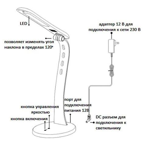 Светильник настольный светодиодный DE1706