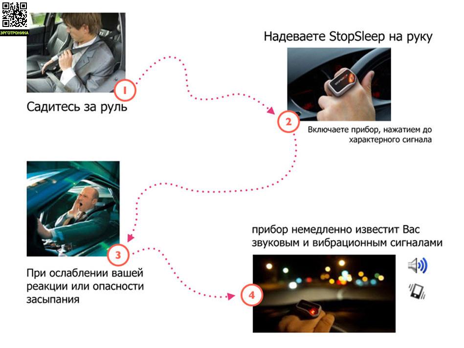 Электронный детектор сна StopSleep®