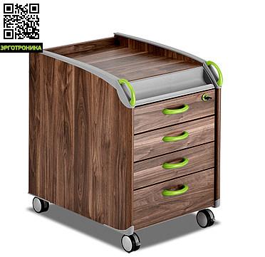 Детская тумба MaxiДетская мебель: тумбы, стеллажи, приставки<br>Тумба Maxi имеет четыре выдвижных ящика, которые снабжены специальными направляющими. Это позволяет выдвигать и задвигать системы хранения легко и плавно. Нижний ящик имеет увеличенную до 12,5 см высоту, что позволяет складывать в нем крупные предметы. Ящики оснащены съемными разделителями, которые разграничивают внутреннее пространство на 2 зоны формата А4. В модели имеется вместительное потайное отделение, которое располагается над выдвижными отделениями. Верхний ящик и выдвижная система хранения запирают<br>