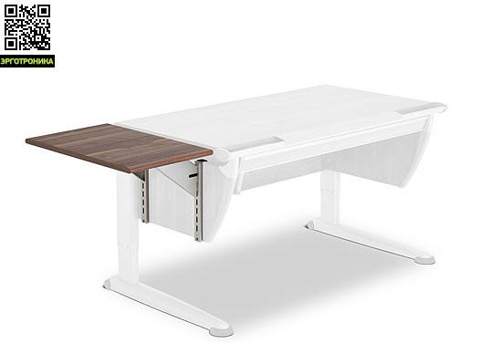 Дополнительная боковая панель Printer Top для всех моделей парт MollДетская мебель: тумбы, стеллажи, приставки<br>Дополнительная боковая панель из ДСП для парт Moll с меламиновым покрытием, толщина 19 мм, со смягченными скругленными краями. С двумя зажимными несущими элементами (алюминиевого цвета с покрытием) и регулировкой высоты с возможностью крепления на столе, без опоры. Возможен левый/правый монтаж. Несущая платформа - для установки принтеров или других периферийных устройств. Размеры: 35х60 см<br>