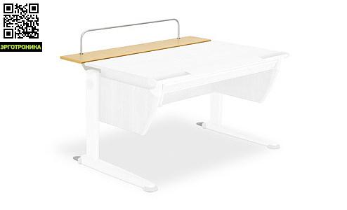 Задняя панель TFT-Deck для парт Booster, Runner, SprinterДетская мебель: тумбы, стеллажи, приставки<br>Расширение сзади из ДСП с меламиновым покрытием, толщиной 19 мм, со смягчёнными скруглёнными кромками, накладки с покрытием алюминиевого цвета. Регулируемая по высоте и наклону дуга с покрытием алюминиевого цвета обеспечивает устойчивое положение дисплея. Размеры: 115х22 см.<br>