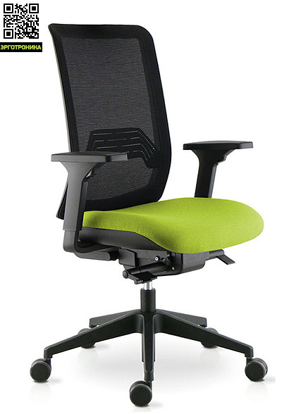 Офисное кресло Wi-Max/RЭргономичные кресла<br>Кресло с высокой спинкой в сетке, сиденье ткань, с синхронным механизмом, с регулируемым поясничным упором, регулировкой сиденья по высоте и  глубине, 3D подлокотниками, крестовина нейлоновая, диаметр 65.<br>