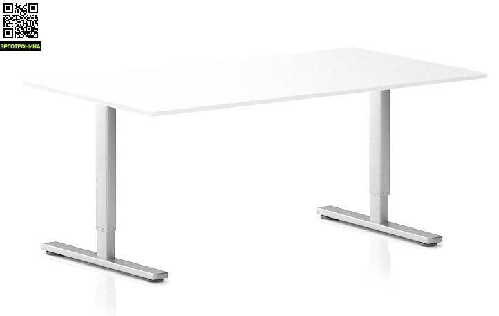 Регулируемый компьютерный стол ErgoStol Flex Белый