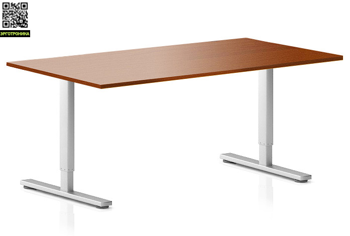 Регулируемый компьютерный стол ErgoStol Flex Вишня