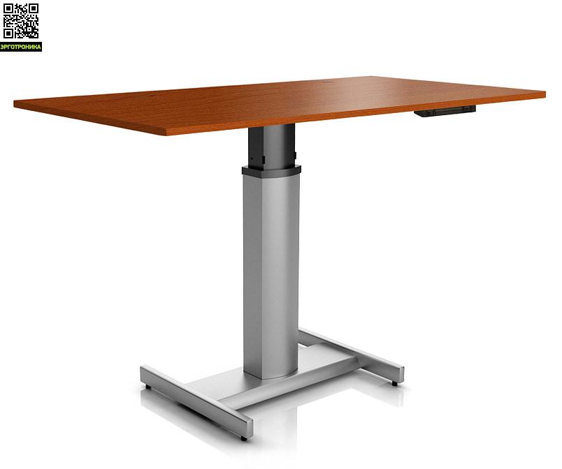 Регулируемый стол ErgoStol Uno HСтолы<br>Стол для работы стоя<br>На одной опоре<br>Электрорегулировка высоты<br>Самый компактный<br>