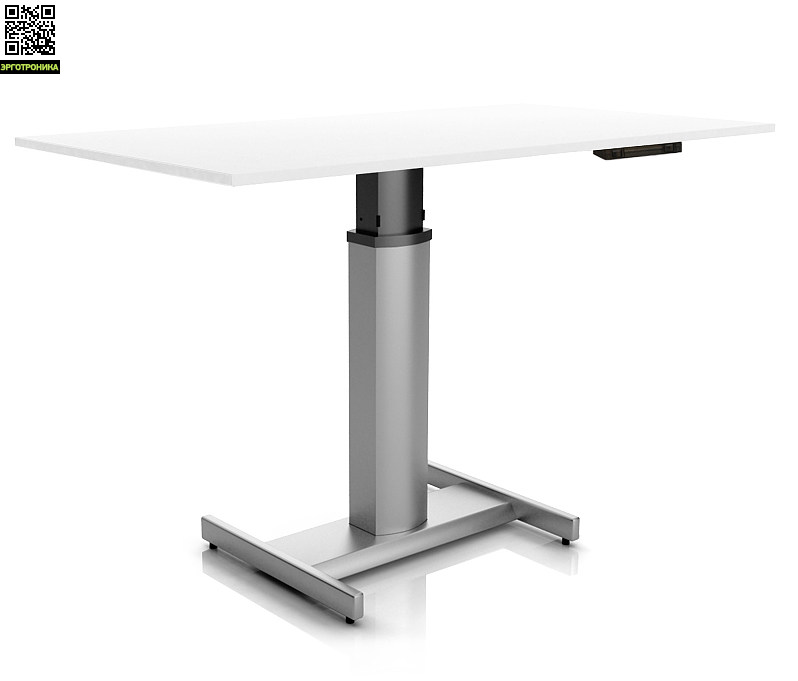 Регулируемый стол Ergostol Uno H Белый (Silver)