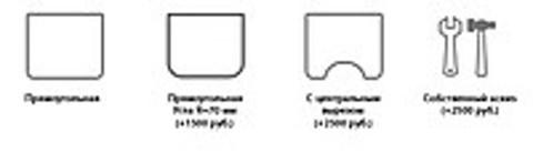 Регулируемый стол ErgoStol Nano Варианты форм столешницы