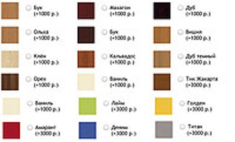Регулируемый стол ErgoStol Nano Варианты дополнительных цветов