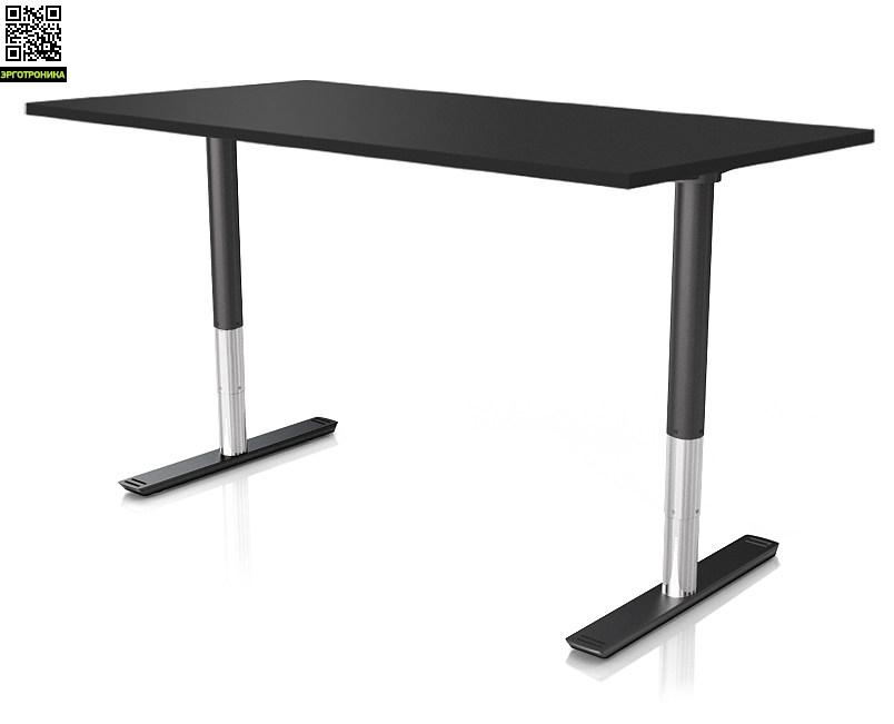 Регулируемый стол ErgoStol NanoСтолы<br>Стол для работы стоя и сидя<br>Электрорегулировка по высоте<br>На двух опорах<br>Без соединительной царги<br>