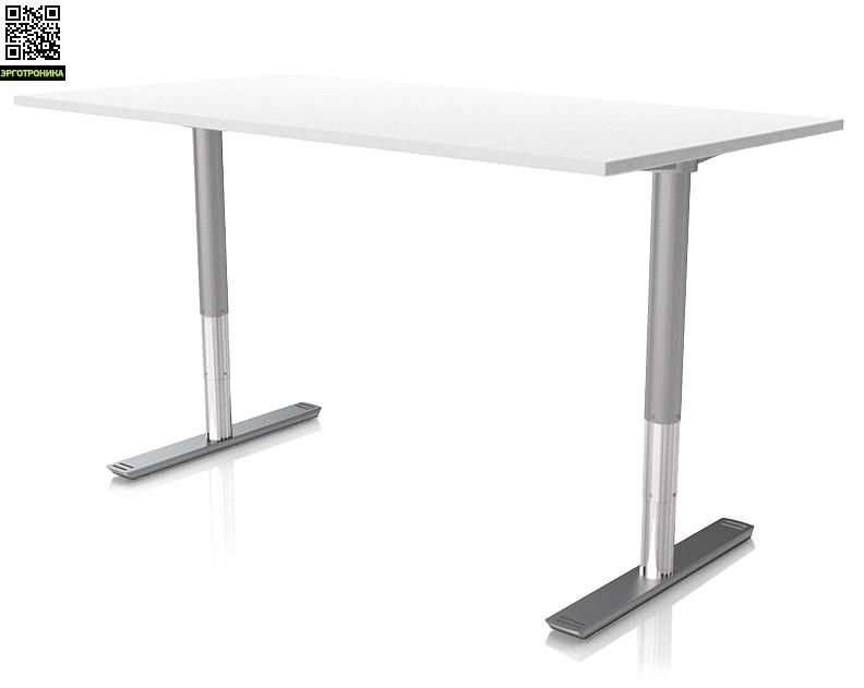Регулируемый стол ErgoStol Nano Белый (Silver)