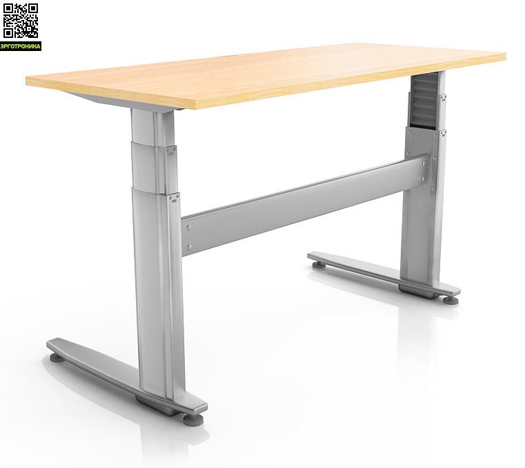 Ортопедический стол ErgoStol JuniorДетские парты<br>Стол для работы сидя и стоя<br>Подходит для детей от 109 см<br>Электрорегулировка высоты<br>