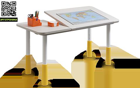 Растущий стол-парта Statler DДетские парты<br>Подъемная часть может располагаться слева или справа<br>Стол поднимается легким вращением! 5 оборотов = 1 см<br>