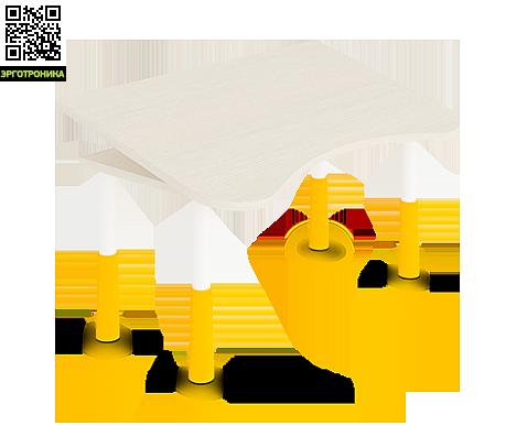 Растущий стол-парта Statler RДетские парты<br>Подъемная часть может располагаться слева или справа<br>Стол поднимается легким вращением! 5 оборотов = 1 см<br>