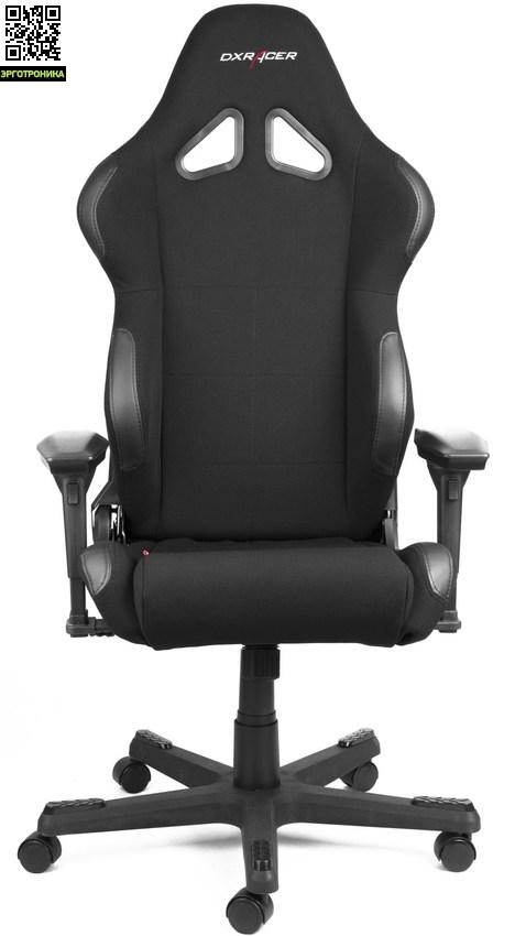 Игровое кресло DxRacer Racing series, Model RC01DXRacer Racing (R-серия)<br>Комбинированный дизайн, включающим элементы ткани и кожи.<br>Металлический каркас<br>Регулируемые по высоте подлокотники имеют 6 положений<br>Угол наклона спинки до 180 градусов<br>