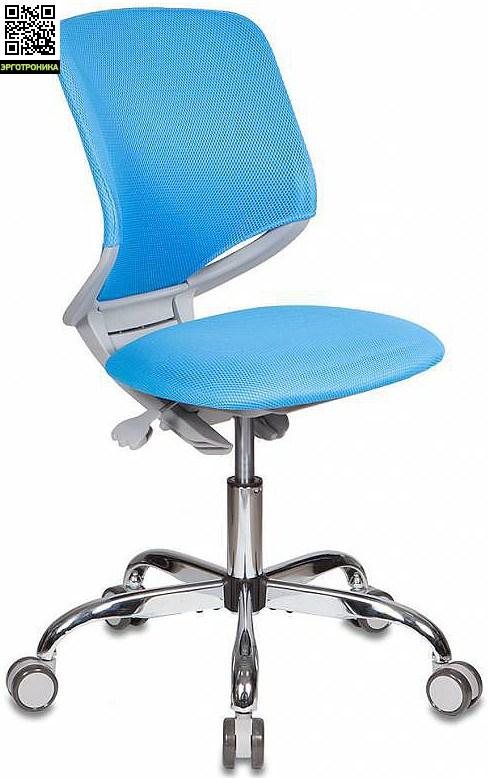 Детское кресло Buro KD-7 Голубая обивка TW-55