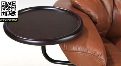 Съемный круглый столик-подставка к креслу RelaxАксессуары и комплектующие к креслам<br>Дерево 4х цветов:<br>Орех<br>Орех бежевый (светлый)<br>Светлое дерево<br>Венге<br>