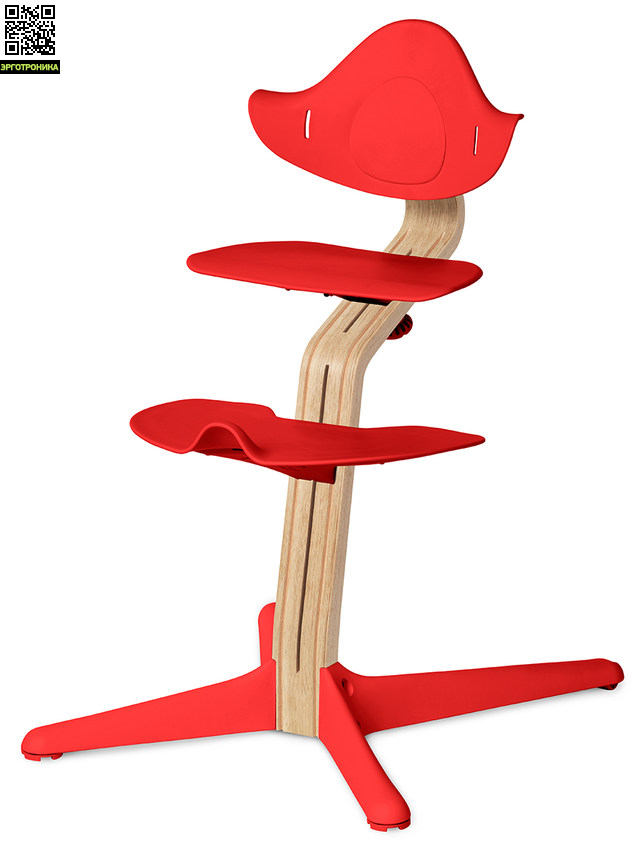 Детский стул Nomi Белый - Коралл