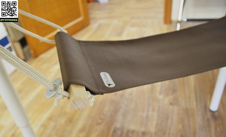 Офисный гамак-подставка для ног FlyFootsОпоры для ног<br>Веревка не вытягивается<br>Двойная отстрочка петель<br>Простое крепление<br>