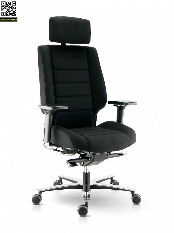 Кресло руководителя Sokoa AzkarЭргономичные кресла<br>Максимальная нагрузка до 180 кг<br>Регулируемый подголовник<br>Регулируемые 4D подлокотники<br>Механизм SynchroPlus<br>