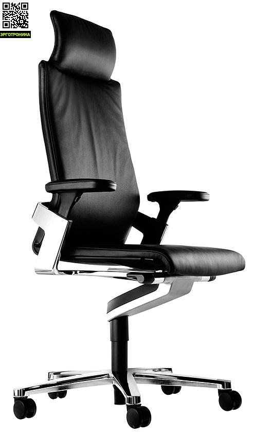 Эргономичное кресло руководителя On Натуральная кожа