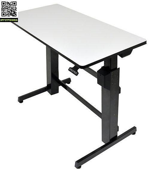 Регулируемый стол Ergotron WorkFit-DФункциональные рабочие столы<br>WorkFit-D - регулируемый по высоте стол который легок в использовании<br>