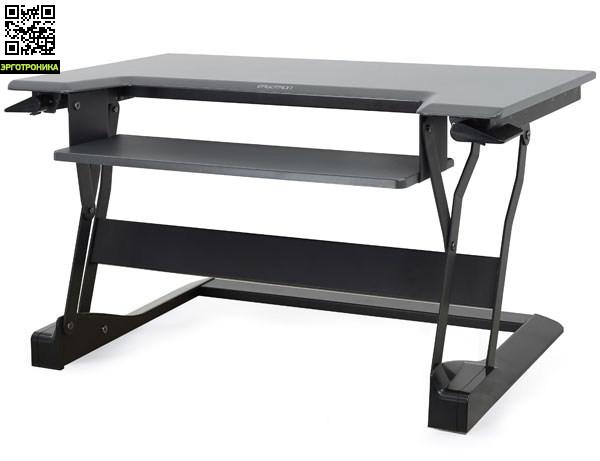 Настольная платформа Ergotron WorkFit-TФункциональные рабочие столы<br>Регулировка высоты рабочего пространства, эргономичное расположение клавиатуры.<br>