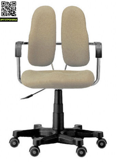 Эргономичное кресло Duorest DR-260Эргономичные кресла<br>Ортопедическая спинка<br>Сиденье с рельефной структуройРегулировка по высотеЭргономичные подлокотникиПрочная крестовина<br>
