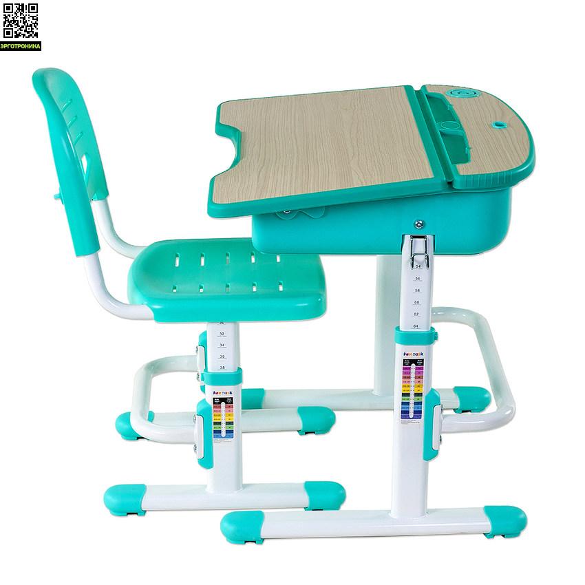 Парта со стулом CAPRI FUNDESKРастущие парты FUNDESK<br>Парта и стул-трансформеры Capri ? эргономичный, компактный, регулируемый по высоте, с ортопедическим стулом и современным дизайном комплект ученической мебели для вашего ребенка.<br>