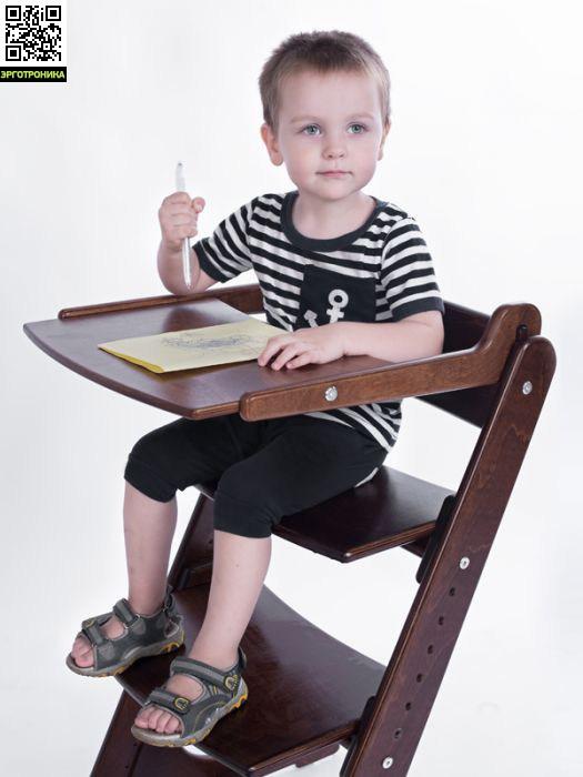 Столик к стульчику Конек ГорбунекАксессуары к креслам<br>Столик для стульчика «Конёк Горбунёк» используется вместе с удерживающим устройством.<br>Длина регулируется в диапазоне 470 -540 мм в процессе роста ребенка.<br>