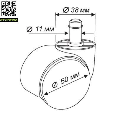 Набор колес CastorSet 3850/PU 5 шт