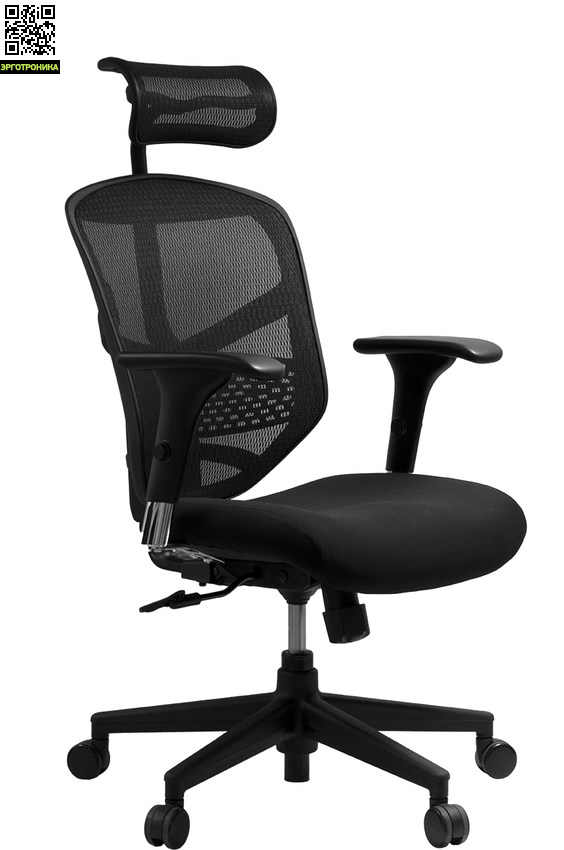 Компьютерное кресло EnjoyЭргономичные кресла<br>Enjoy  имеет следующие индивидуальные регулировки: изменение высоты и наклона спинки с возможностью фиксации в нескольких положениях, изменение высоты  сидения. Кресло оснащено регулируемым адаптивным подголовником и  подлокотниками с возможностью регулировать высоту.<br>