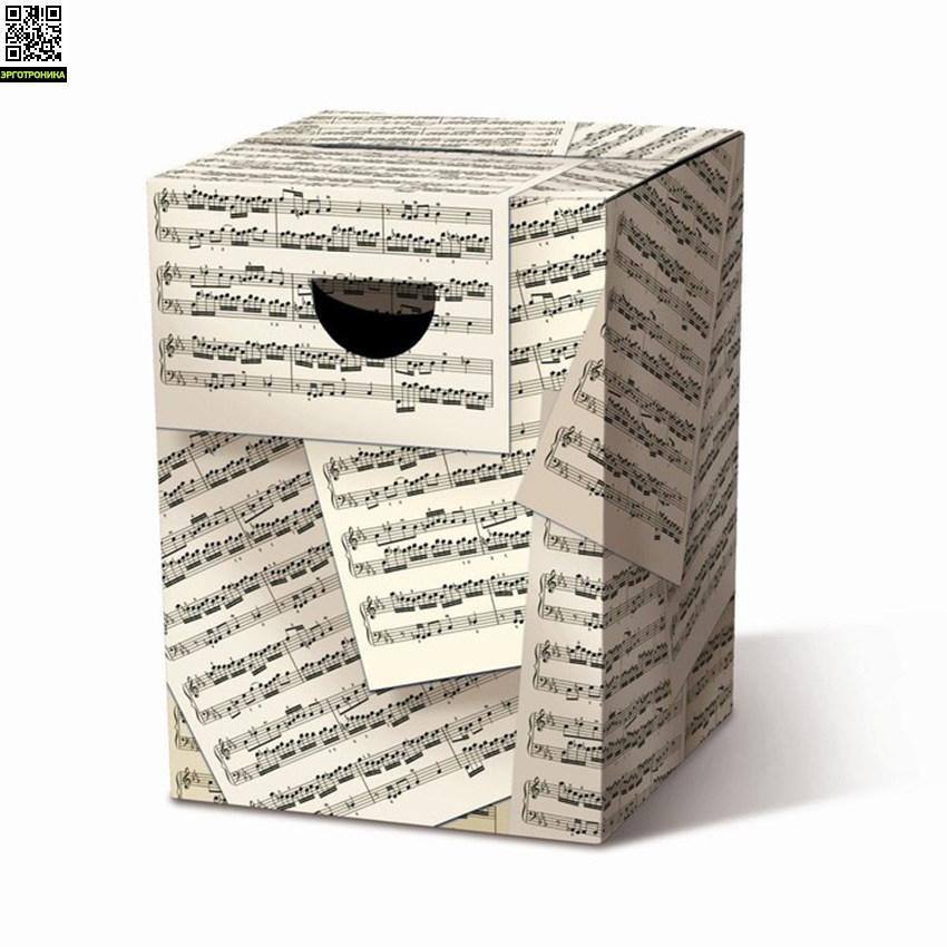 Табурет картонный сборный AllegroДля дома<br>Картонный табурет легко и быстро собирается, сидеть на нем удобно, как на обычном деревянном или пластиковом стуле. Также табурет можно использовать как журнальный или прикроватный столик. Для экономии жилого пространства можно с легкостью собирать его после использования. Материал: гофрированный картон                             <br>Размер: 32,5 х 32,5 х 44,4 см                                   <br>Выдерживает вес до 200 кг<br>