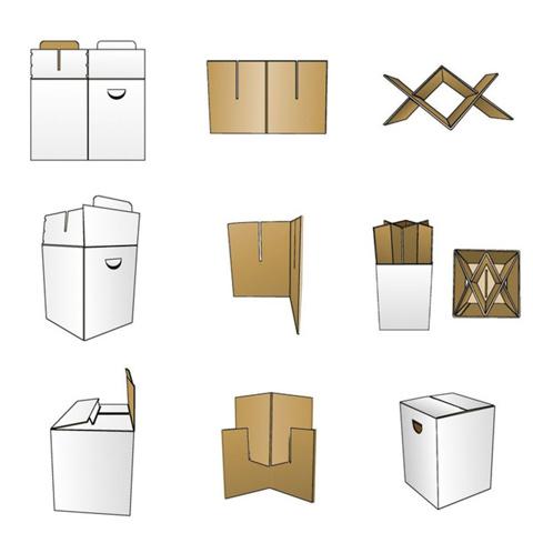 Табурет картонный сборный Random