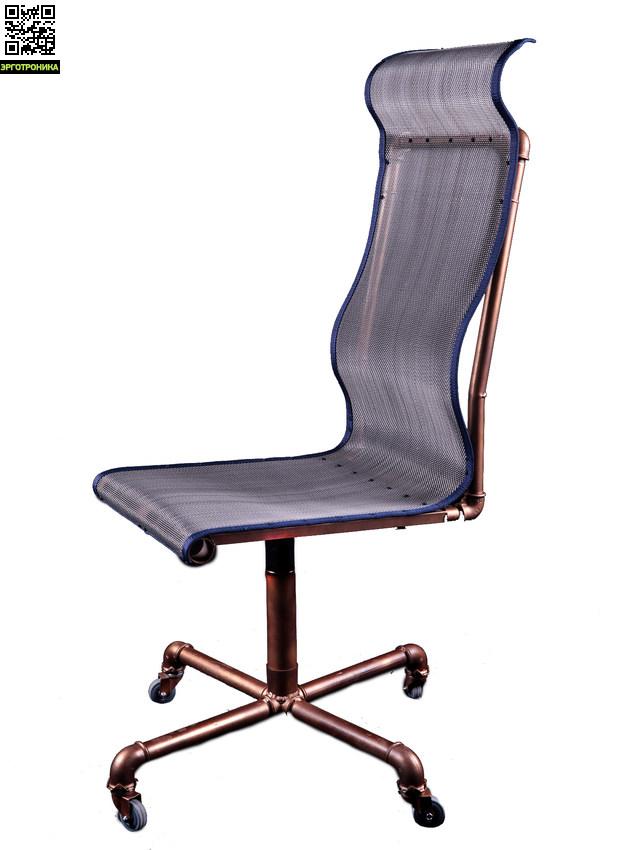 Кресло в стиле Steam PunkДизайнерские кресла<br>Невероятно стильное и удобное кресло<br>Нержавеющая сетка (15 лет гарантии)<br>Стальная рама (10 лет гарантии)<br>